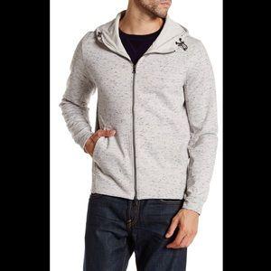 Vince Heathered Zip up Hooded sweatshirt
